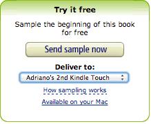Procure esse menu no canto direito do site da Amazon para baixar amostras gratuitas de livros.