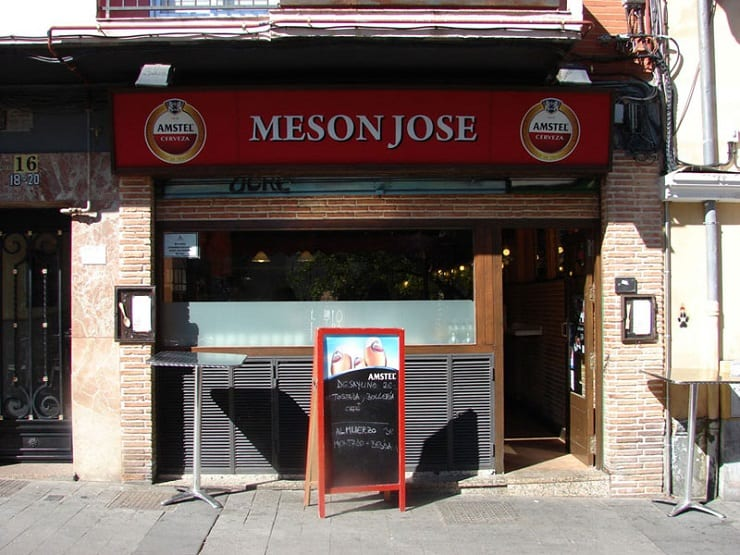 Entrada al Mesón José