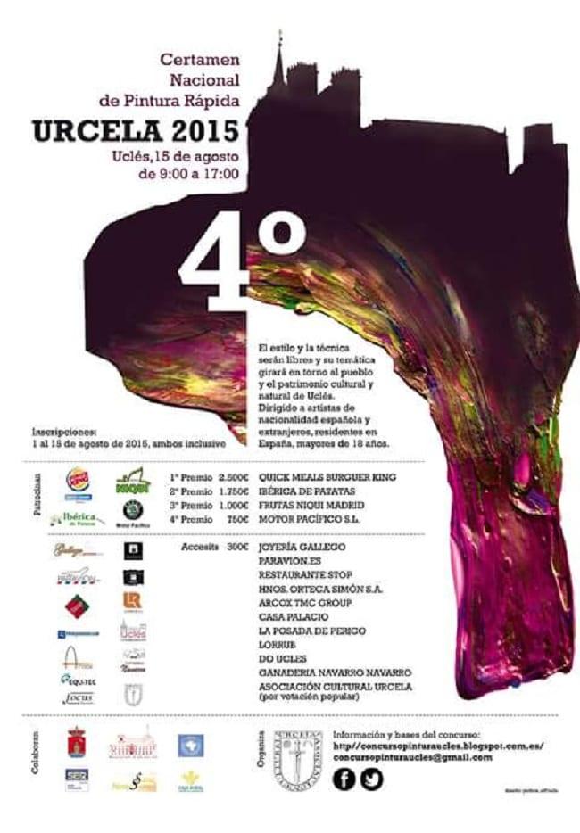Cartel del Certamen Nacional de Pintura Rápida URCELA Uclés
