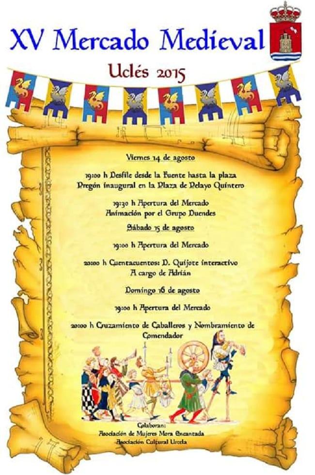 Cartel del Mercado Medieval de Uclés 2015