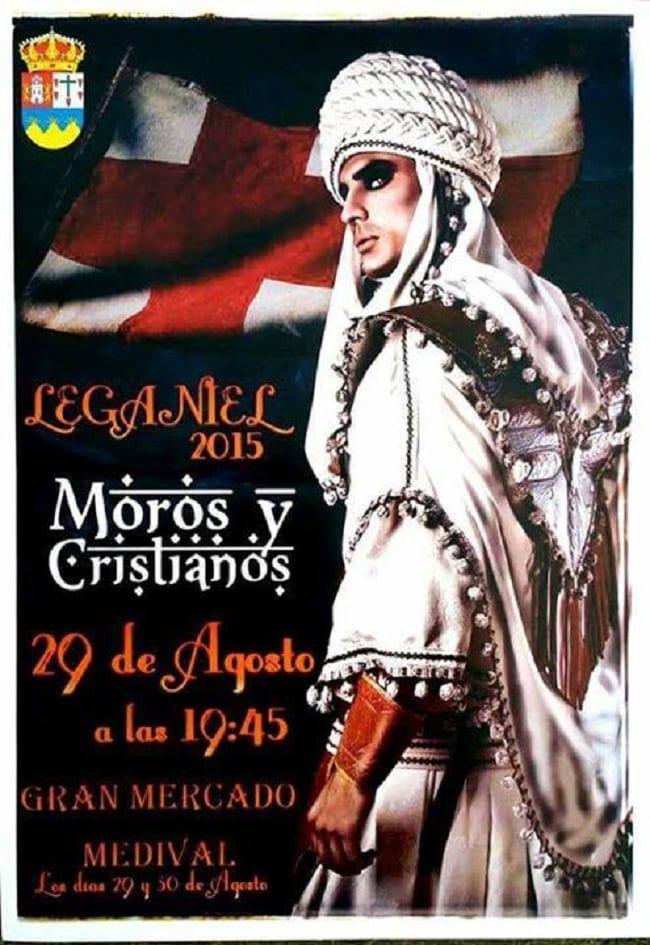 Cartel de Moros y Cristianos de Leganiel 2015