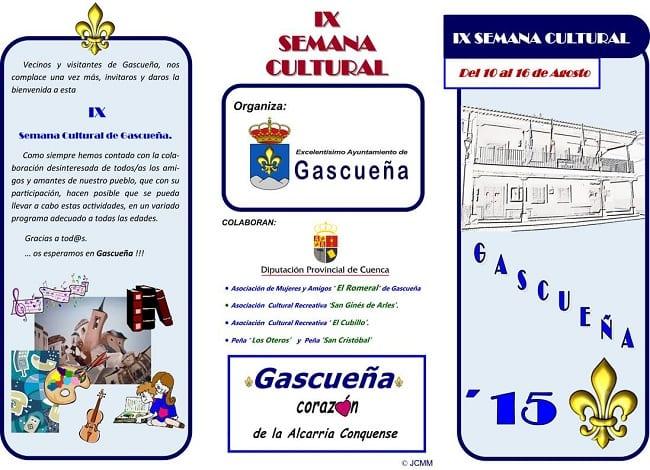 Cartel de la Semana Cultural de Gascueña