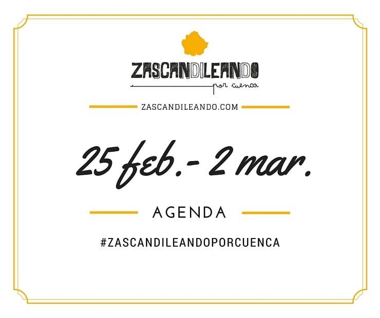 Agenda del 25 de febrero al 2 de marzo de 2016 en Cuenca
