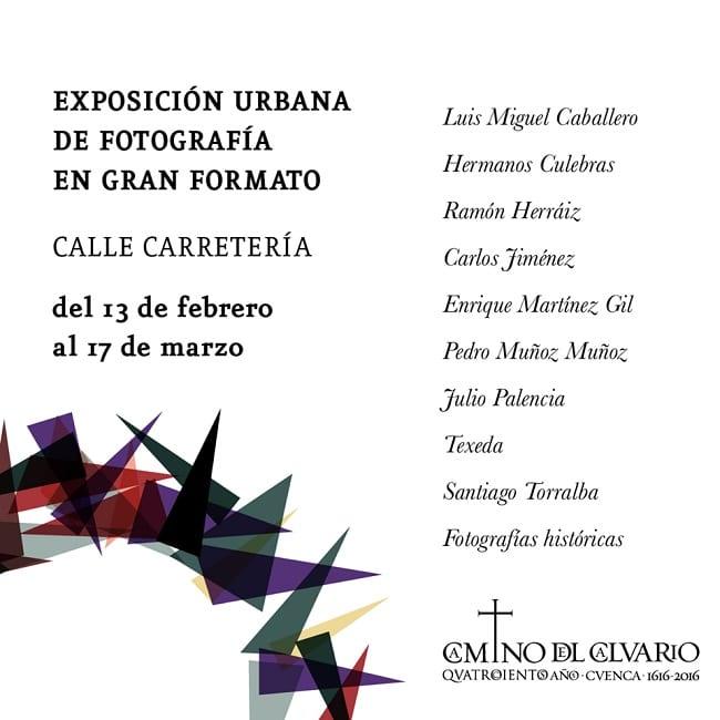 Exposición de fotografía de gran formato en la calle Carretería