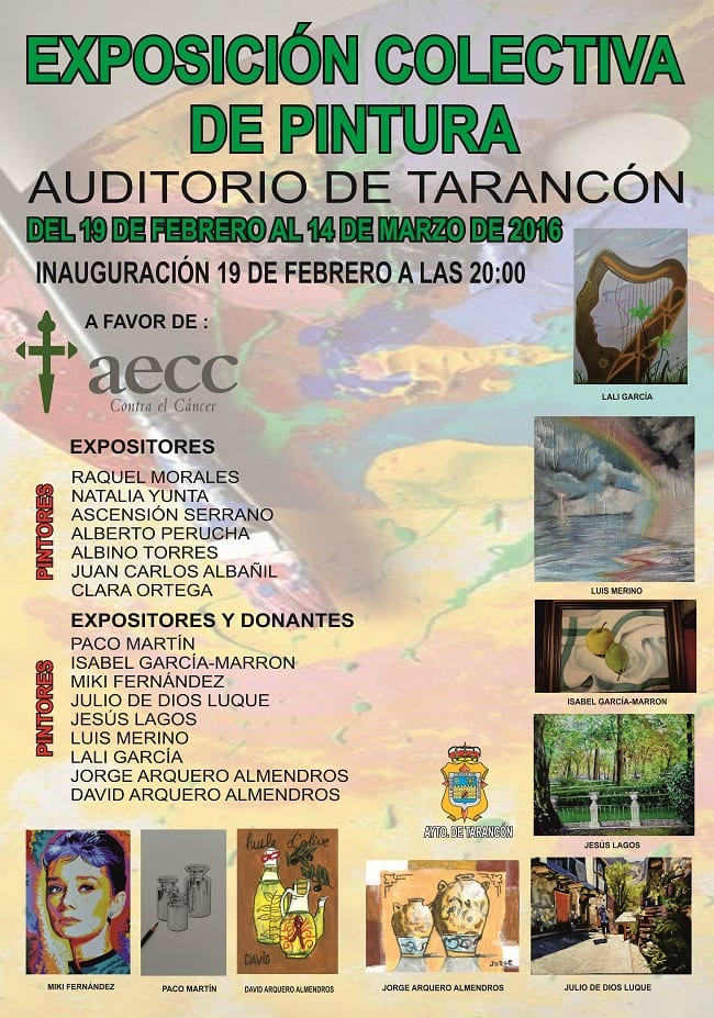 Exposición de pintura colectiva en Tarancón en beneficio de la AECC