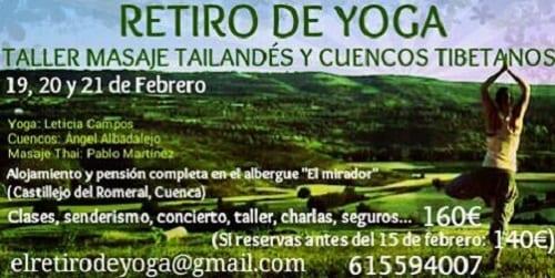 Retiro de Yoga en Castillejo del Romeral