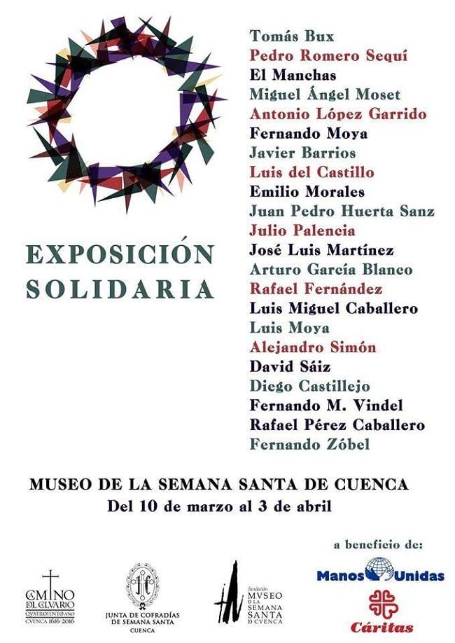 Exposición solidaria en Cuenca Semana Santa 2016