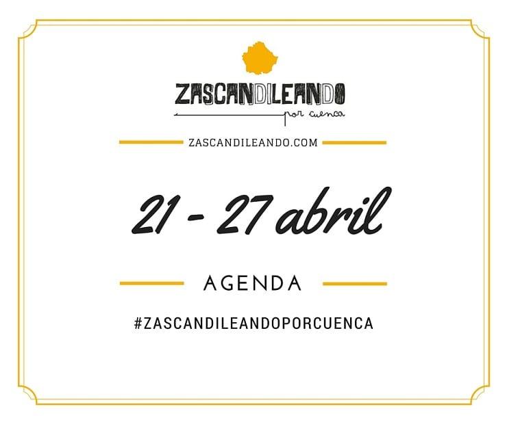 Agenda del 20 al 27 de abril de 2016 en Cuenca