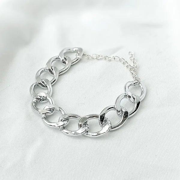 браслет жіночий срібний большие звенья