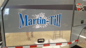 farm trailer lettering