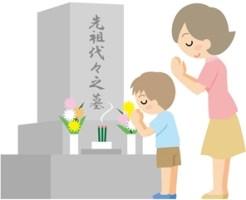 父の日の墓参りの花