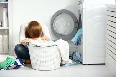 汗染みが洗濯で落ちない