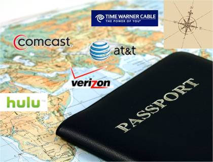 Mapping online TV Verizon Comcast Time Warner Cable AT&T Hulu