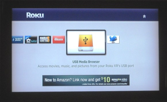 Roku XR USB channel