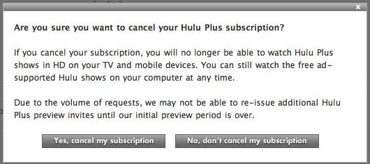 cancel hulu plus