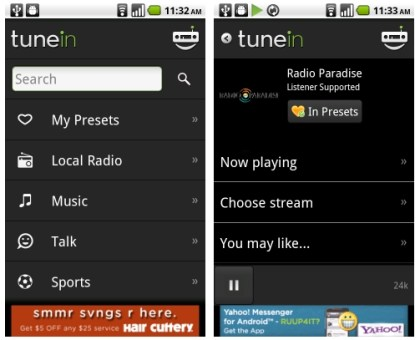 RadioTime Launches TuneIn Radio App for Android