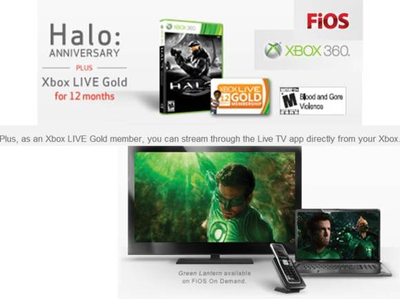 Microsoft Xbox Fios TV live streaming