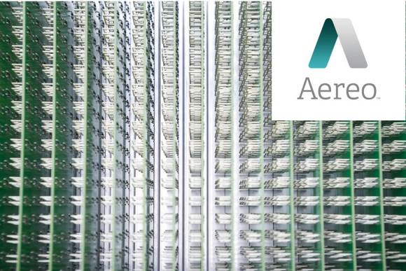 Aereo logo and antenna array