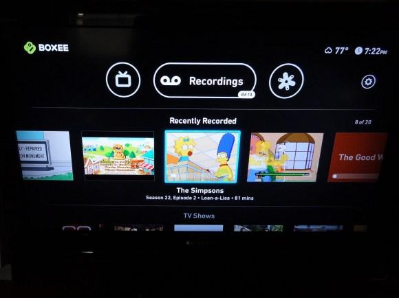 Boxee DVR UI