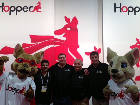Dave at the DISH booth with the Boston Guys and some Joeys