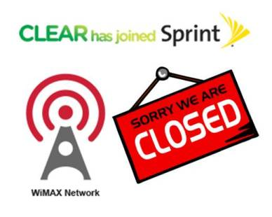 Sprint Shutters WiMAX Network