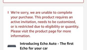 Amazon Echo Auto Invites Are Here