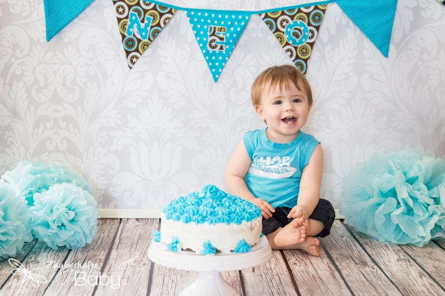 Cake Smash Fotoshooting zum 1 Geburtstag  Zauberhafte Babys