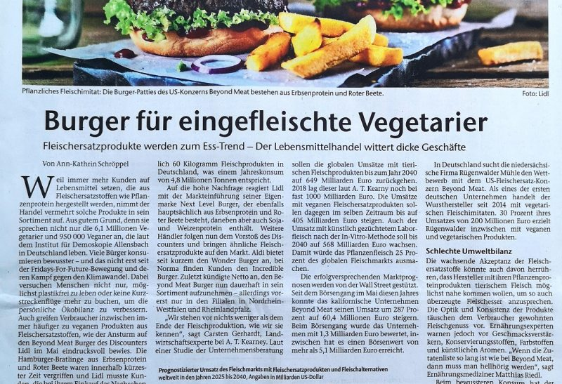 Unrecherchierte antivegane Kommentare in Zeitungen 😡