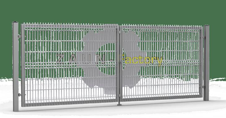 Einfachstabmattentor, Stabmattentor, Füllung aus 3D Stabmatten, Industrietor