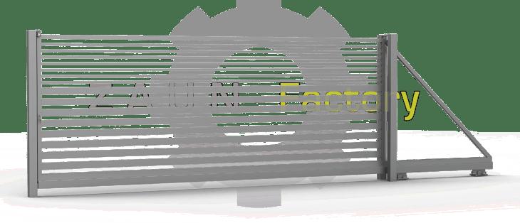 Schiebetor PROGRESSIVE, Design Stahlschiebetor