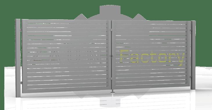 Sichtschutz, Stahltor, Sichtschutz aus Stahl