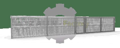 Einfachstabmatten, Industriezaun, Industrie Zaunsystem, Indrustrietor, Industrieflügeltor, Einfachmattentor