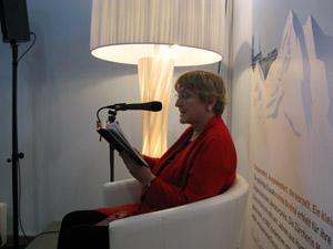 Clara Kanerva an der Leipziger Buchmesse