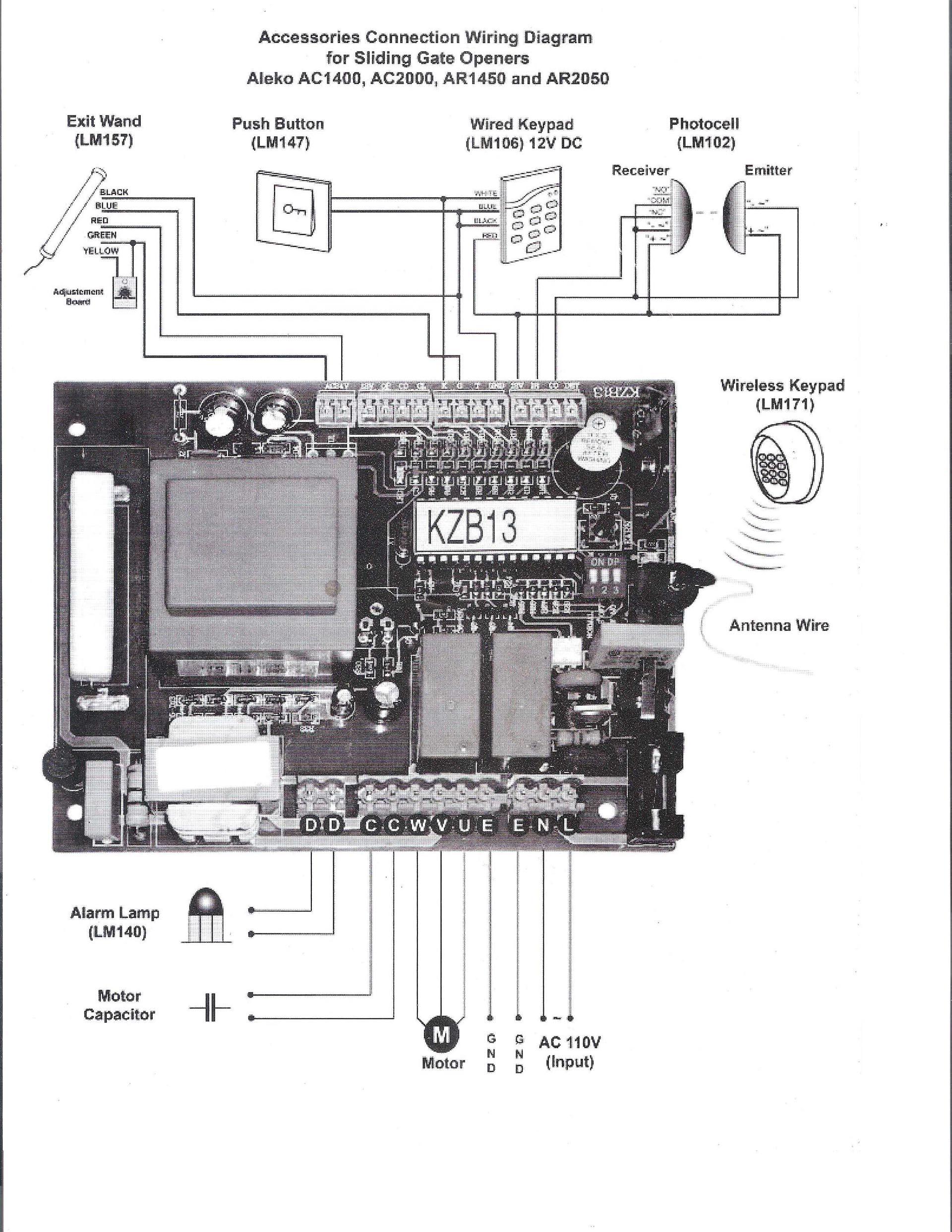 medium resolution of electric gate motor wiring diagram wiring library power gate openers gate opener wiring