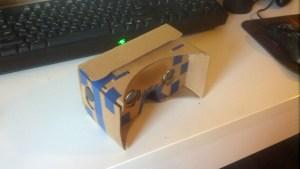 Мой Cardboard сзади