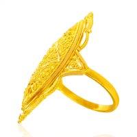 22KT Gold Long Finger Ring - AjRi64489 - 22KT Gold Long ...