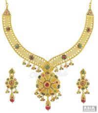 22K Necklace and Earrings Set