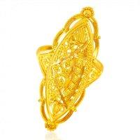 22KT Gold Long Finger Ring