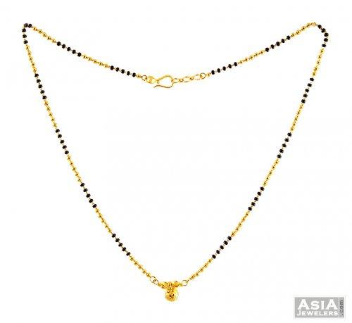 22k Gold Mangalsutra 16 Inches AjCh56895 22k Gold