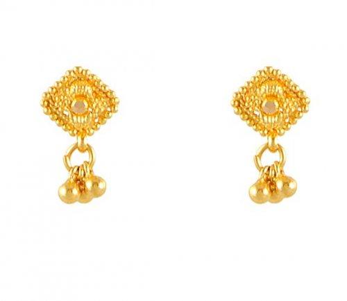 Little Gold Earrings Catbird Dewdrop Stud
