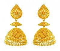 22 Karat Gold Jhumka Earrings - AjEr61876 - 22K Gold ...