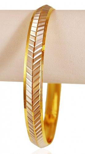 22k Gold Two Tone Mens Kada AjBa62933 22K Gold Punjabi