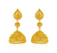 22K Gold Jhumka Earrings - AjEr62768 - US$ 1,444 - 22K ...