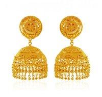 22K Gold Jhumka - AjEr62767 - 22K Gold Indian design ...