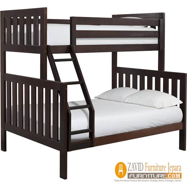 Tempat Tidur Tingkat Anak Kayu Minimalis Terbaru  Dipan