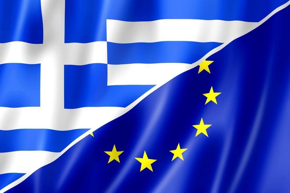 Флаг Греции и ЕС