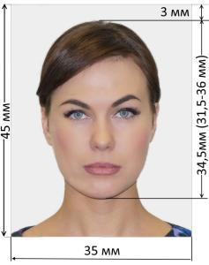 образец фото на визу в Чехию