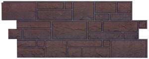 Фасадные панели BURG (ЗАМОК) - цвет Темный - ZAVODKM