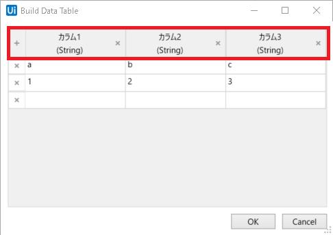 UiPath】データテーブルのカラム名、列名を取得する   Zawanii