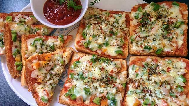 bread pizza recipe hindi